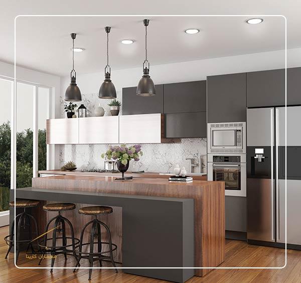 آشپزخانه مدرن جدید