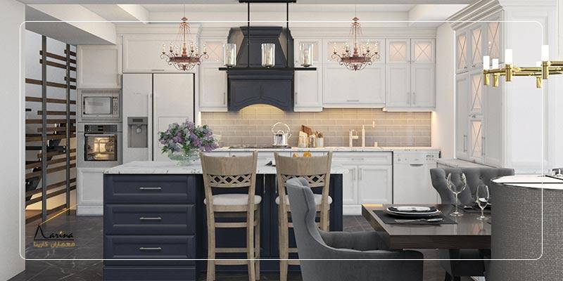 طراحی آشپزخانه کلاسیک و مدرن