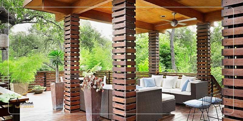 ستون چوبی